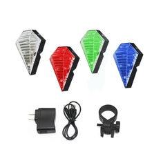 Задний фонарь для велосипеда 8 светодиодов 2 лазера