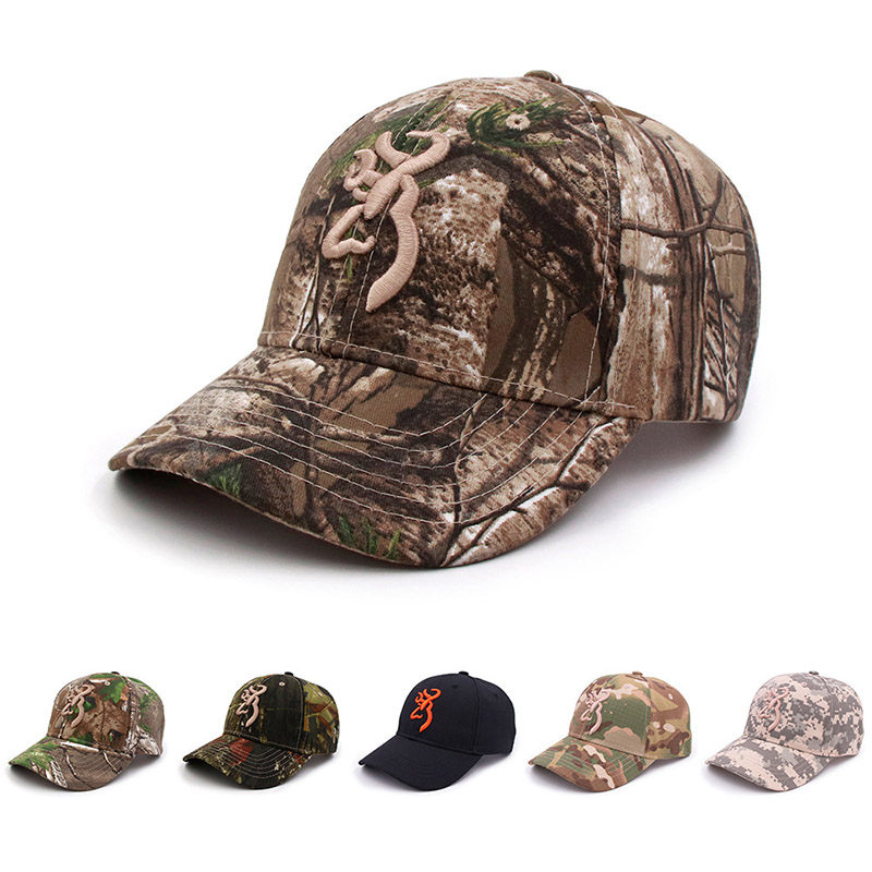 Fashion Camouflage   Cap   Unisex Browning   Baseball     Caps   Women Men Cotton Jungle Outdoor Hunting Hat Soldier Tactical Hats CP0131