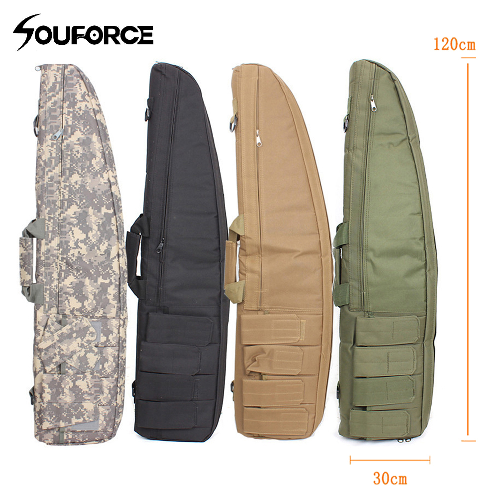 4 Color Tactical Rifle Bag Length 120 cm Gun Slip Bevel Rifle Bag Carrying Bags Accessory Package for Outdoor Hunting tourbon tactical rifle gun sling with swivels shotgun carrying shoulder strap black genuine leather belt length adjustable