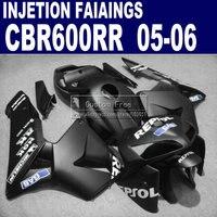 Injection fairings for Honda repsol 600 RR fairing 2005 2006 CBR 600RR CBR600RR 05 06 matte black motorcycle kits & seat cowl