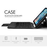 mini wireless bluetooth 4.0 Bluetooth Wireless Keyboard Case for iPad Mini 5/iPad mini 4, Premium PU Leather Folio Flip Cover with 7 color blacklight (4)