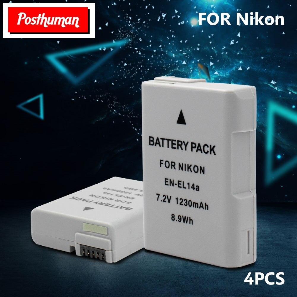 Baterias digitais 7.2 v 1230 mAh Recarregável Decoded Bateria Para Nikon Coolpix Câmera Reflex de Lente Única EN-EL14A Li-polímero