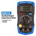 DM6013L измеритель конденсатора Портативный Ручной цифровой емкости 1999 отсчетов тестер 200pF ~ 20mF удержания данных подсветка