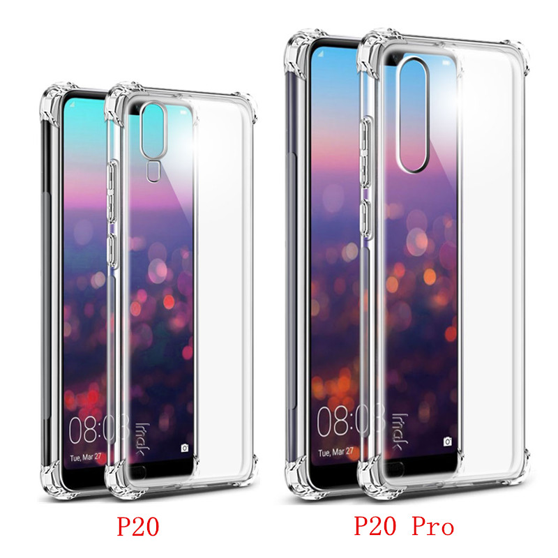 Huawei P20 Pro Case P20 Pro Cover IMAK Shockproof Soft Silicon TPU Back Cover sFor Huawei P20 Pro Plus Funda