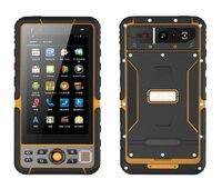 """Cep telefonları ve Telekomünikasyon Ürünleri'ten Cep Telefonları'de 2018 T60 Sağlam Android Smartphone IP67 Su Geçirmez Darbeye Dayanıklı Cep Telefonu 5.5 """"El Terminali 1D 2D Barkod Tarayıcı"""