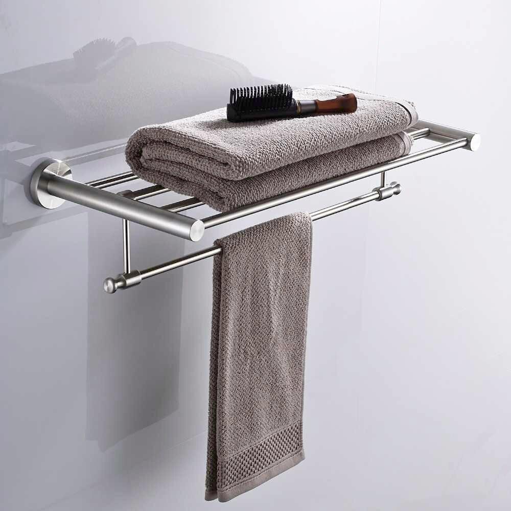 KEMAIDI accesorios de baño Barra de toallas, soporte de papel, soporte de cepillo de dientes, Toalla de baño, anillo de toalla, gancho de tela, juegos de baño