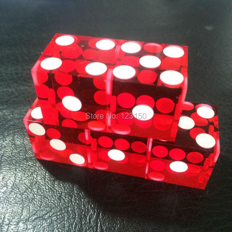 5Pcs 19mm Clear Right Angle Transparent Casino Craps Dice Grade