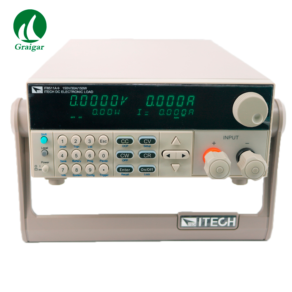 IT8511A+ Channel DC Electronic load Programmable 0-150V/ 1mA-30A/150W High Accuracy Resolution 0.1mV 1mA цена