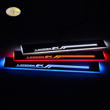 SNCN LED moving light scuff pedal for Mitsubishi Lancer EX 2009-2015 car acrylic led door sill welcome