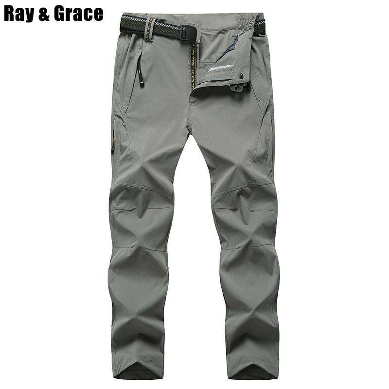 בתוספת גודל 8XL EU48 באיכות גבוהה קיץ גברים חיצוני מכנסיים מהיר יבש טיפוס טרקים טיולים קמפינג הרי צפצף מכנסיים