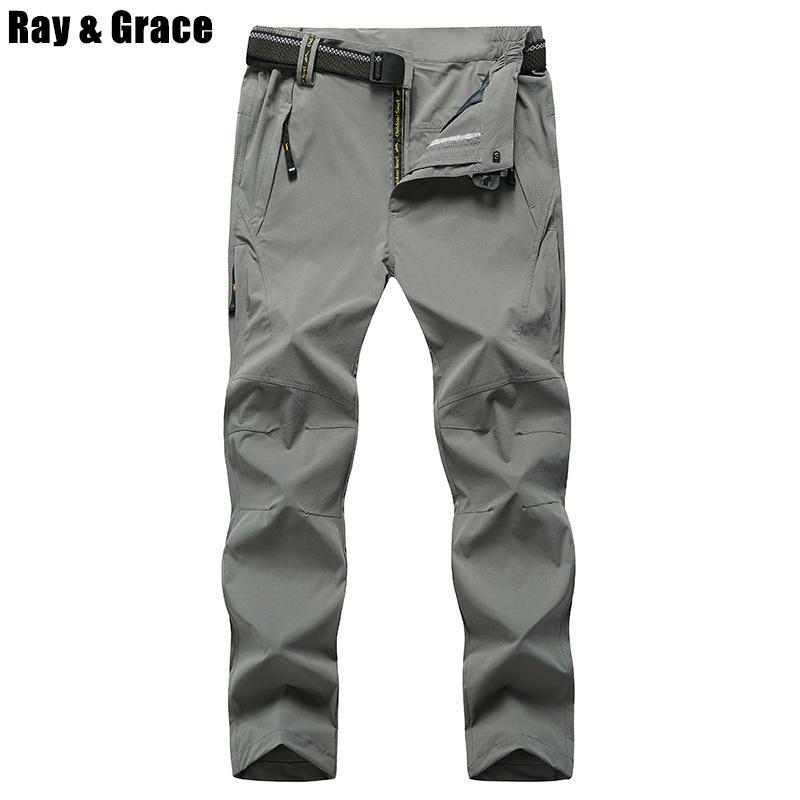 Plus Size 8XL EU48 High Quality Summer Men's Outdoor Pants Quick Dry Climbing Trekking Hiking Camping Mountain Pant Trousers