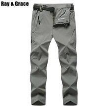 Plus Size 8XL EU48 High Quality Summer Men's Outdoor Pants Quick Dry Climbing Trekking Hiking Camping Mountain Pant Trousers