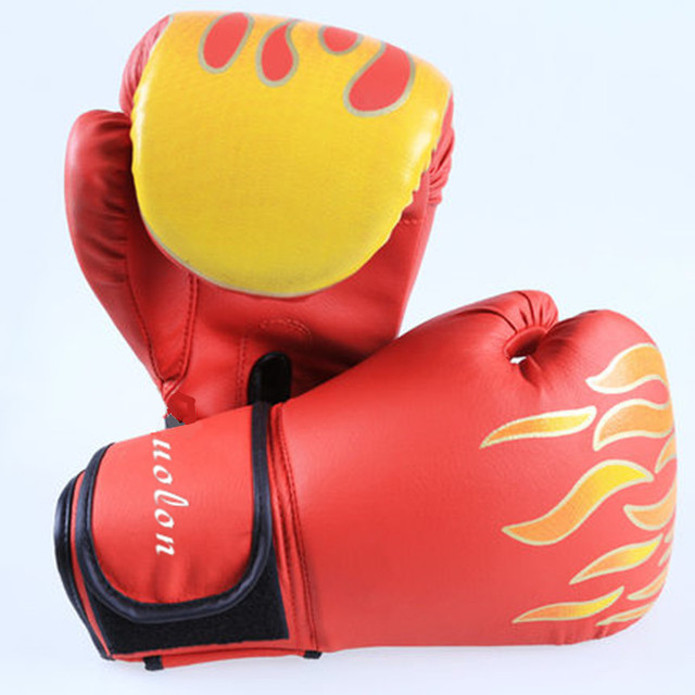 1b68c1153 Adult Size PU Leather Kick Boxing Gloves Men Women MMA Muay Thai Fight  Gloves luva de box