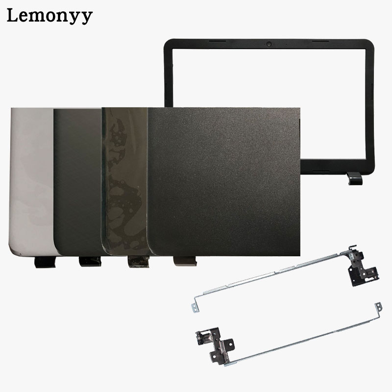 NEW Laptop Top LCD Back Cover/LCD Front Bezel/Hinges For HP 15-G000 15-G100 15-R000 15-R100 255 G3 Case SPS 761695-001