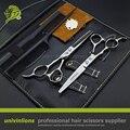 "5.5"" lefty professional barber razor blade haircut scissors left handed hairdressing scissors left handed hair cutting shears"