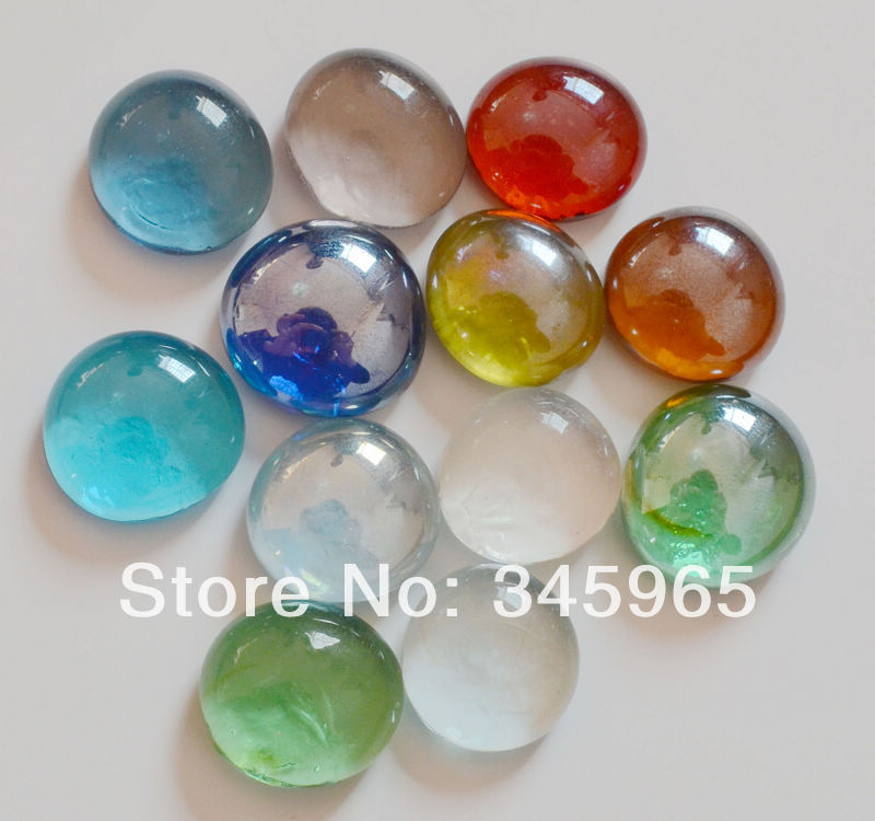 Names Of Decorative Stones : Popular colored glass pebbles buy cheap