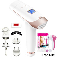 Dual Voltage Home Pulsed Light IPL Laser Epilator Shaving Painless Permanent 300000shot Hair Removal device free facial massager