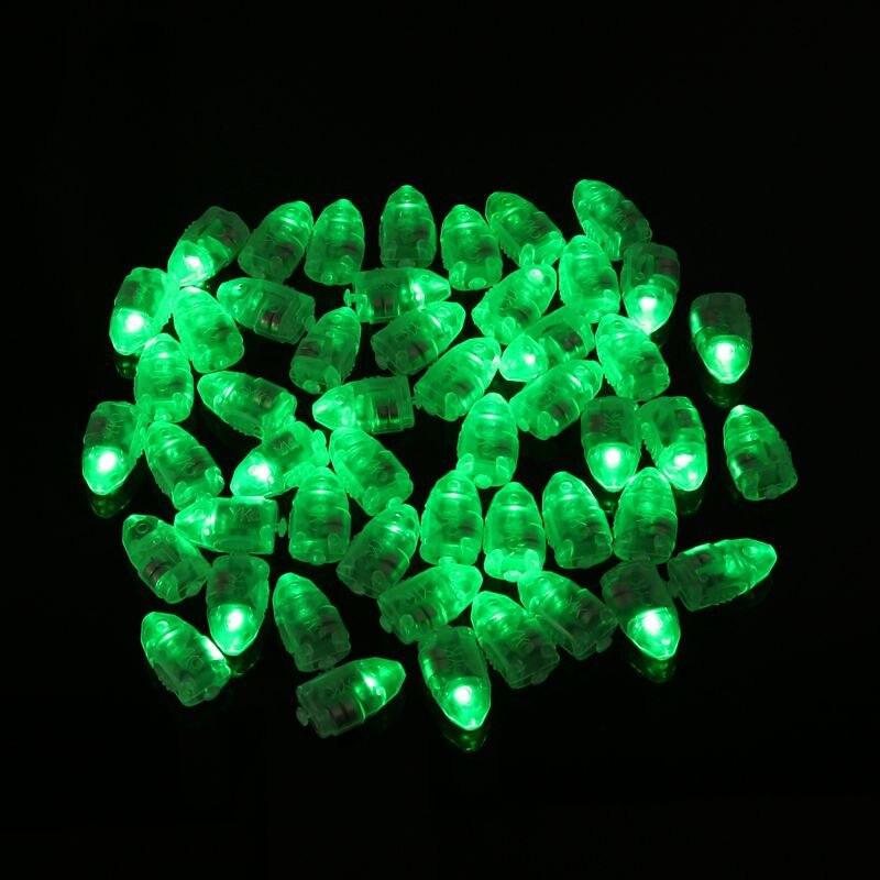 50st / lot Färgglada LED-lampor Ballonglampor för papper Lyktor - Semester och fester - Foto 2