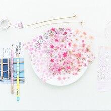 6pcs/ lots Romantic cherry blossoms decorative sticker scrapbooking diary kawaii stationery Album Decoration Sticker