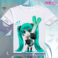 Anime T-Shirt Traje Senbonzakura Vocaloid Neve Miku Hatsune Miku T shirt Da Forma Das Mulheres Dos Homens T-shirt Top
