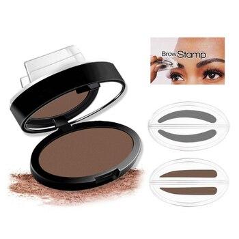 2018 Eyebrow Powder Seal Waterproof Eyebrow Stamp Eyebrow Shadow Set Natural Shape Brow Stamp Powder Palette Delicated 131-0424