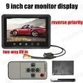Nuevo 9 pulgadas LCD Monitor Del Coche Mini TFT LCD Monitor Del Coche pantalla revertir la prioridad de dos vías AV para cámara trasera