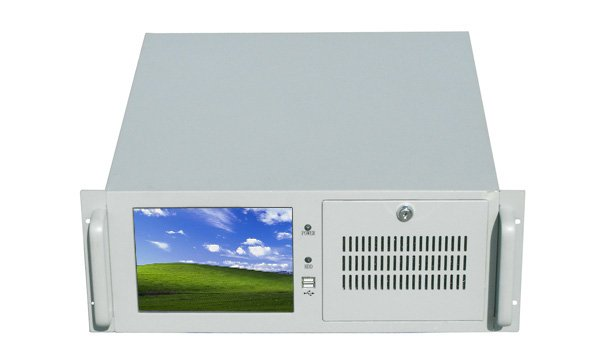 Industrial computer with 8 4 TFT LCD RC610M 4Urack mount chassis replace of Advantech 610L