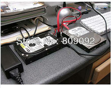 USB 2.0 to IDE SATA 2.5 3.5 Hard Drive Converter Cable with Power Adapter & Data Cable