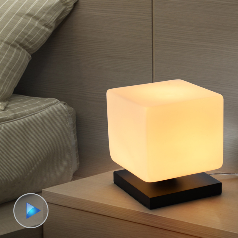 modern brief lamp ice cream lamp wood base table lamp brief lamp le003 in led table lamps from. Black Bedroom Furniture Sets. Home Design Ideas