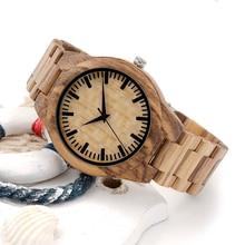BOBO BIRD V-G23 Zebra Bamboo Wooden Watches Mens Luxury Brand Japan Movement Quartz Clock All Wood Wristwatch relogio masculino