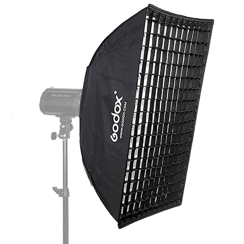 Godox 60cm*90cm Strip Beehive Honeycomb Grid Softbox with for Bowens Mount Studio Strobe Flash Light Photography Lighting godox 90cm 90cm strip beehive honeycomb grid softbox with for bowens mount studio strobe flash light photography lighting