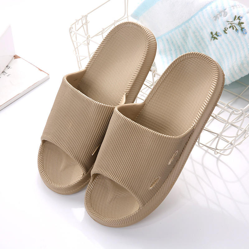 a8f57bbeba7 2019 new Japanese four seasons bathroom EVA slippers man summer couple  solid color stripes non slip soft bottom home indoor-in Slippers from Shoes  on ...