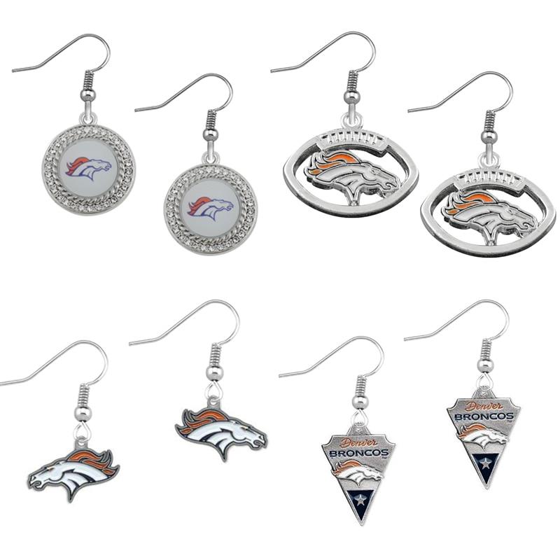 Denver Broncos Logo Drop Earrings 5 pairs Set