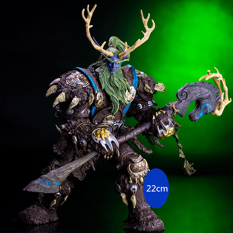 [Funny] Collection 22cm WOW Online Game Night Elf Druid Broll Bearmantle Figure Figurine model Toy Exquisite Collectible Gift