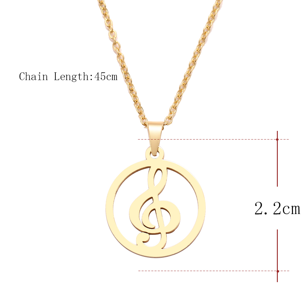 HTB1HgOIa.D1gK0jSZFGq6zd3FXad - DOTIFI  Stainless Steel Necklace For Women Man Musical Symbol Gold And Silver Color Pendant Necklace Engagement Jewelry
