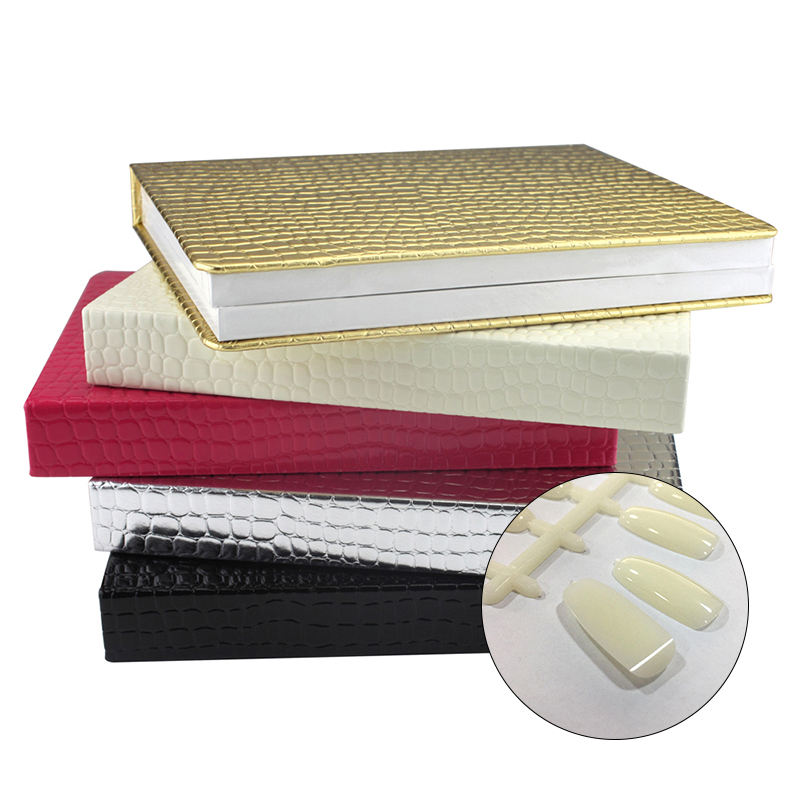 120/160/240 Professional Pro Nail Salon Display Showing Card PU Leather Book Catalogue With Tip Nail Art Color Chart Acrylic Gel