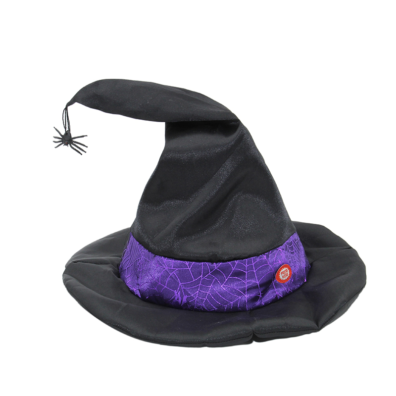 Animated Black Spiderina Witch Hat