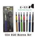 E-XY Multicolor-ego T Ego CE4 Kits Blister Cigarro Eletrônico Ego CE4 E Cigarro 650 mAh/900 mAh/1100 mAh Vape Vaporizador Vapor