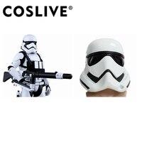 Coslive Звездные войны Белый солдатский шлем реквизит для косплея шлем полного черный белый шить шлемы костюм аксессуары