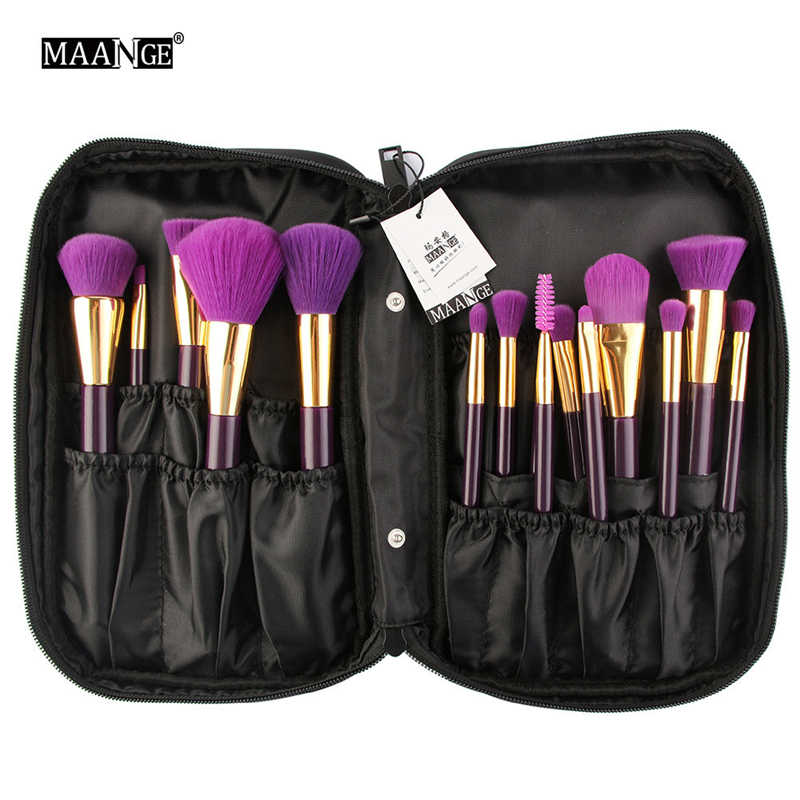 MAANGE Black Waterproof Cosmetics Bags Offers Makeup Multifunctional Hanging Bag Large-capacity makeup brush bag G3 6-21