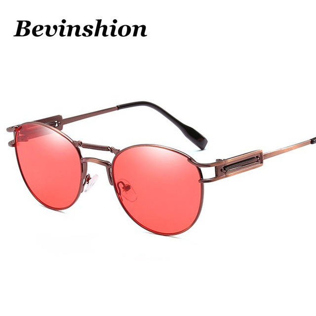 4ac42305ac5 Brand Double Bridge Vintage Spring Legs Pilot Sunglasses Women Men Oval Sun  Glasses Clear Retro Bronze