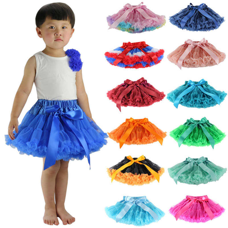 1fa74bf9a076f Baby Little Girls Tutu Skirts Kid Ruffles Fluffy Pettiskirts Ballet Dancing  Tulle Cake Skirts 1-10y Children Green Pink Red Blue