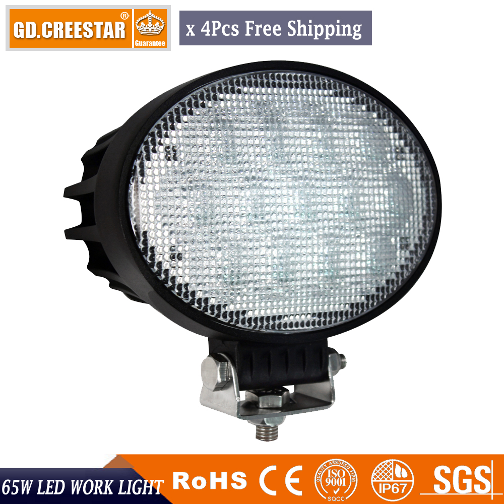 GDCREESTAR 7inch Oval offroad lights 65W Flood beam 12V Car Led Work Lights Oval led Offroad lights SUV led driving lights x4pcs amber white led offroad bar gdcreestar selling 20inch 12v led offroad bar kr9016 90 90w 12v led driving work bar lights