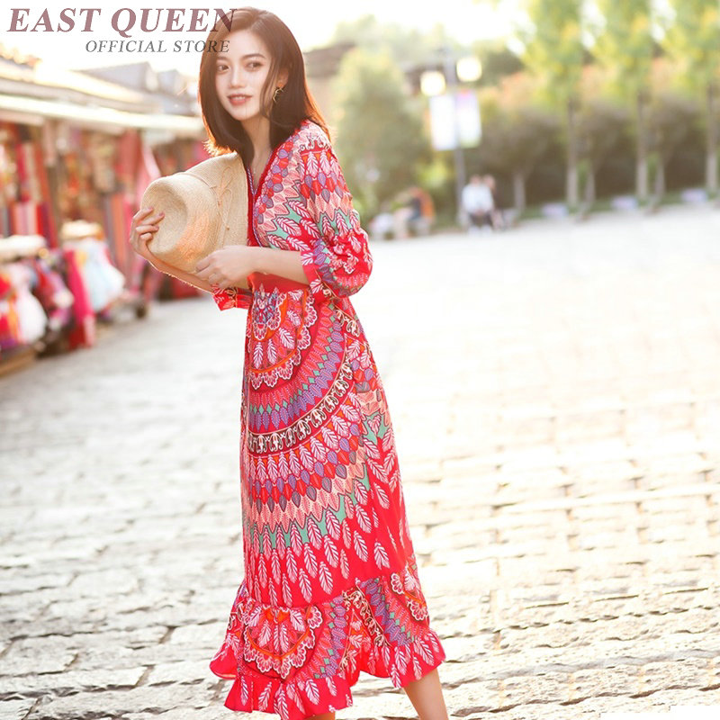 e298481995 Women Boho chic mexican dress hippie ethnic style dress clothing bohemian  holiday beach female sexy dresses DD422 F-in Dresses from Women s Clothing  on ...