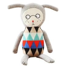 70cm lucky boy sunday High quality Cute Knitting wool appease Plush Toys Baby Sleep Soft Pillow Cotton Dolls