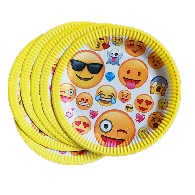 10 Pieces Disposable paper Plates happy birthday party decorations kids 7inch party plates baby shower Event  sc 1 st  AliExpress.com & 10 Pieces Disposable paper Plates happy birthday party decorations ...