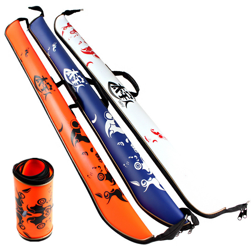 Brand 120cm fishing rod bag eva portable folding fishing for Folding fishing rod