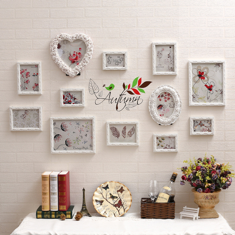 white europe style picture frames sets romantic foto quadro frame moldura marcos de fotos resin for
