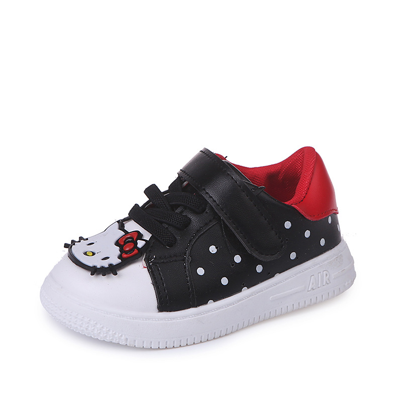 66e508ff7f8 US $7.56 12% OFF|JGVIKOTO Fashion Brand Girls Shoes Cute Sweet With Hello  Kitty Design Kids Sports Running Sneakers Children Skate Shoes 21 30-in ...