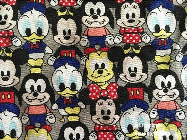 90 145 cm patchwork lona dos desenhos animados pato donald mickey